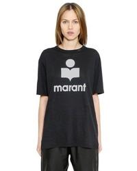 Etoile Isabel Marant Oversized Marant Printed Linen T Shirt