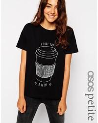 Asos Petite T Shirt With I Love You Latte Print