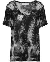 IRO Poudre Printed Stretch Jersey T Shirt