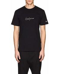 Yohji Yamamoto Pour Homme Logo Embroidered Cotton T Shirt