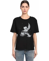 Saint Laurent Printed Cotton Jersey T Shirt