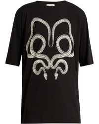 Serpent print cotton t shirt medium 3766181