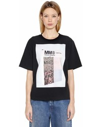 MM6 MAISON MARGIELA Special Box Print Cotton Jersey T Shirt