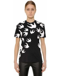 MCQ Swallow Printed Cotton Jersey T Shirt