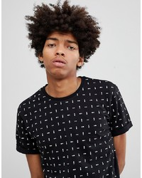 YOURTURN T Shirt In Black With Geometric Print