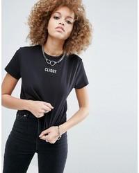 Asos T Shirt With Clique Print