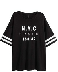 H&M T Shirt With Printed Design