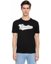 Valentino Terrycloth Logo Cotton Jersey T Shirt