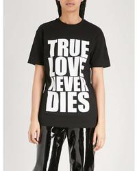 Gareth Pugh True Love Print Cotton Jersey T Shirt