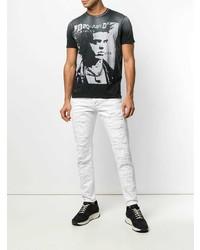 DSQUARED2 Vintage Print T Shirt