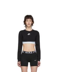 Nike Black Air Long Sleeve Crop Top