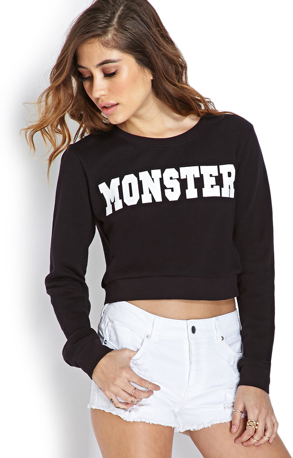 Forever 21 Monster Cropped Sweatshirt | Where to buy & how to wear
