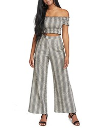 Show Me Your Mumu Stripe Strapless Crop Top
