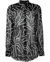 Alexander Wang Geometric Print Shirt