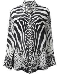 Balmain Zebra And Leopard Print Shirt