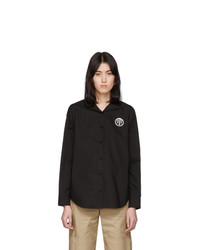 MM6 MAISON MARGIELA Black Back Flap Shirt