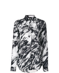 Saint Laurent Blurred Leopard Print Shirt