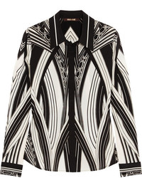 Roberto Cavalli Chicago Printed Stretch Silk Shirt