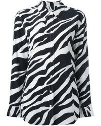 Equipment Zebra Print Shirt