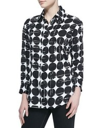 Finley Poplin Polka Dot Print Dress Shirt