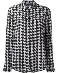 Salvatore Ferragamo Houndstooth Pattern Shirt