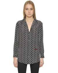 Kate moss reese signature silk shirt medium 1213451