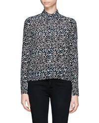 Nobrand Mirrorball Print Silk Shirt
