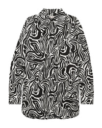 Marni Oversized Zebra Print Cotton Poplin Shirt