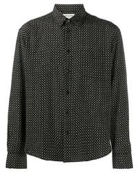 Saint Laurent Printed Classic Collar Shirt