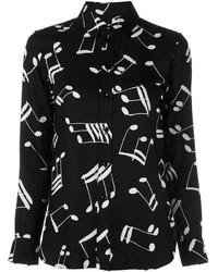 Saint Laurent Musical Notes Classic Shirt