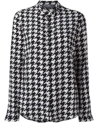 Salvatore Ferragamo Houndstooth Pattern Shirt