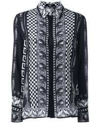 Versus Multi Print Button Down Shirt