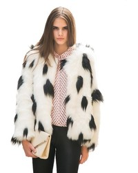 Chicnova faux fur short coat medium 128007