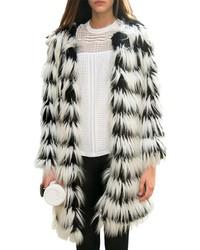 ChicNova Imitated Fur Stripes Coat