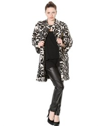Printed faux fur coat medium 128005