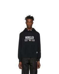 Moncler Genius 7 Moncler Hiroshi Fujiwara Black Logo Hoodie