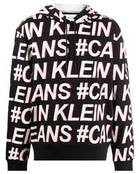 Calvin Klein Jeans All Over Logo Print Hoodie