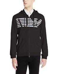 Armani Jeans Full Zip Hoodie Sweatshirt With Chest Logo