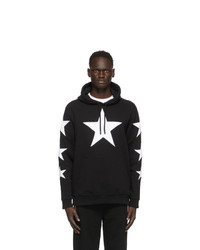 Burberry Black And White Star Hoodie