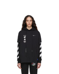 Off-White Black Diag Mariana Double Tee Hoodie