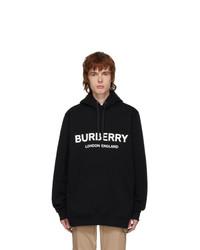 Burberry Black Lexstone Logo Hoodie