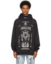 Vetements Black Limited Edition Hardcore Patched Logo Hoodie