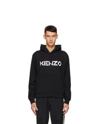 Kenzo Black Logo Classic Hoodie