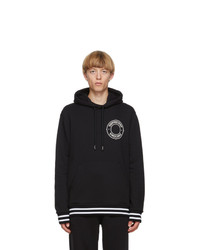 Burberry Black Logo Graphic Hoodie
