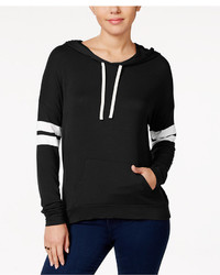 Hippie Rose Juniors Striped Sleeve Hoodie