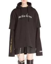 Justin4ever double sleeve graphic hoodie dress medium 840608