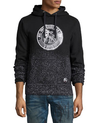 Logo patch pullover hoodie black medium 457376
