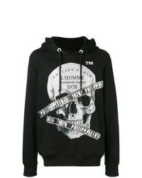 Philipp Plein Logo Skull Hoodie