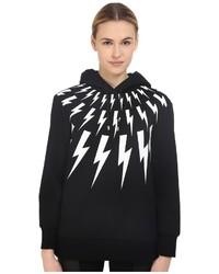 Thunderbolt printed hoodie sweatshirt medium 840584