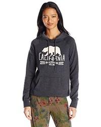 Volcom Juniors California Bear Swirl Pullover Graphic Hoodie